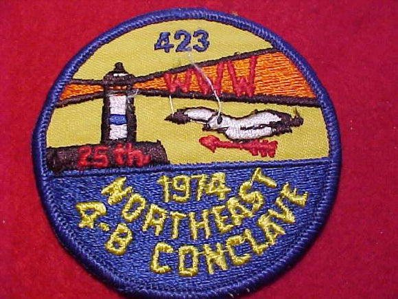 1974 NE4B SECTION CONCLAVE PATCH, HOST LODGE 423, GITCHEE GUMEE