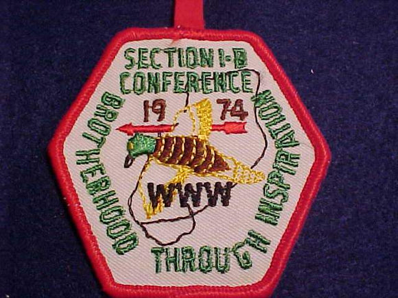 1974 NE1B SECTION CONFERENCE PATCH