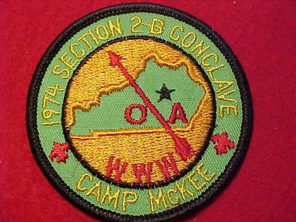 1974 SE2B SECTION CONCLAVE PATCH, CAMP MCKEE