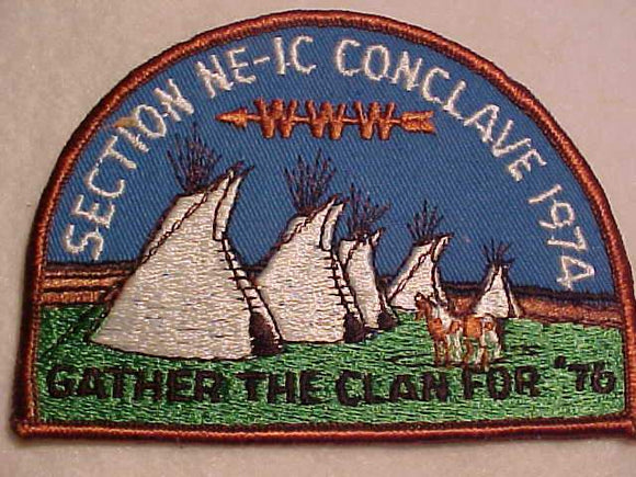 1974 NE1C SECTION CONCLAVE PATCH