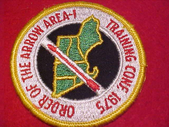 1975 NE1 TRAINING CONFERENCE PATCH