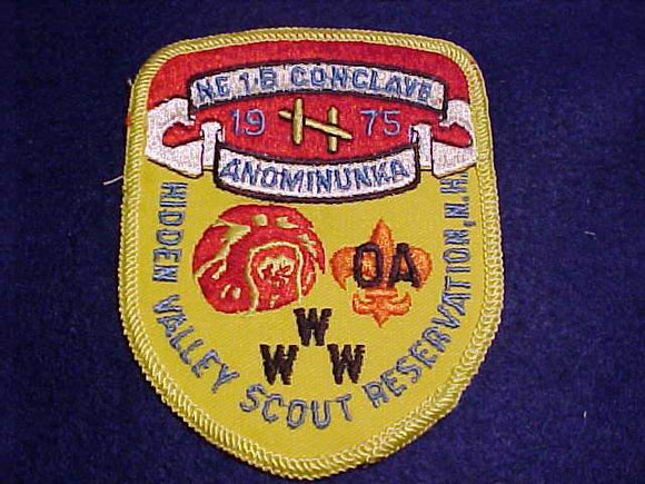 1975 NE1B SECTION CONCLAVE PATCH, HIDDEN VALLEY SCOUT RESV.
