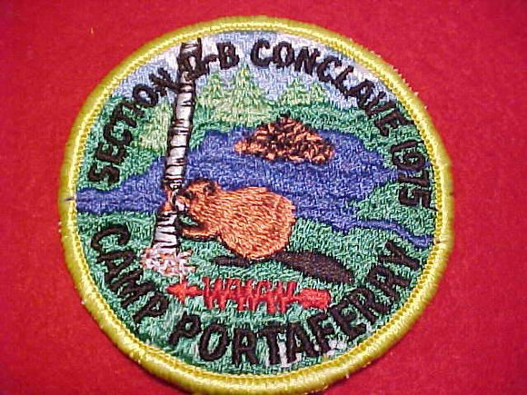 1975 NE2B SECTION CONCLAVE PATCH, CAMP PORTAFERRY