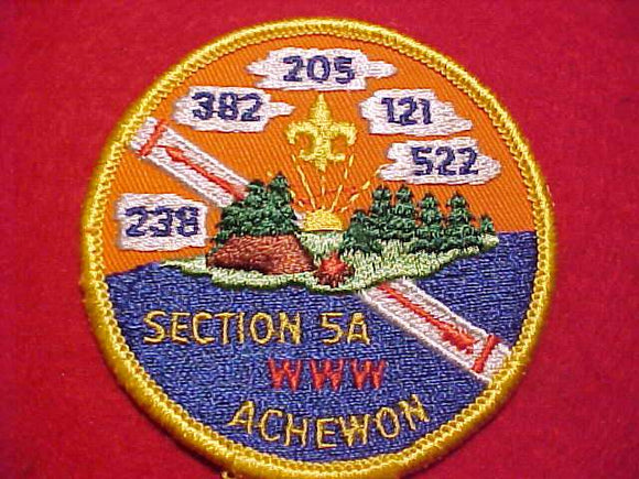 1975 EC5A SECTION CONCLAVE PATCH, USED FROM 1975-1979