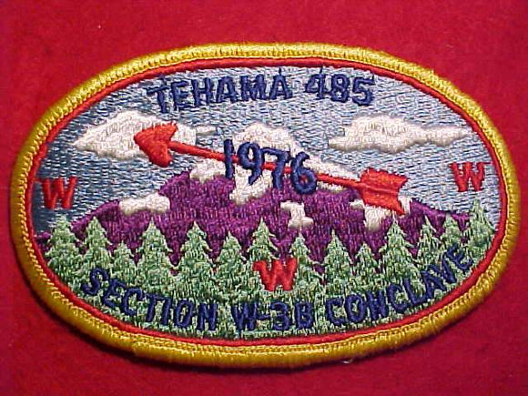 1976 W3B SECTION CONCLAVE PATCH, TEHAMA 485