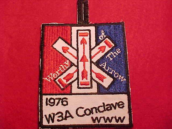 1976 W3A SECTION CONCLAVE PATCH, BLACK BDR.