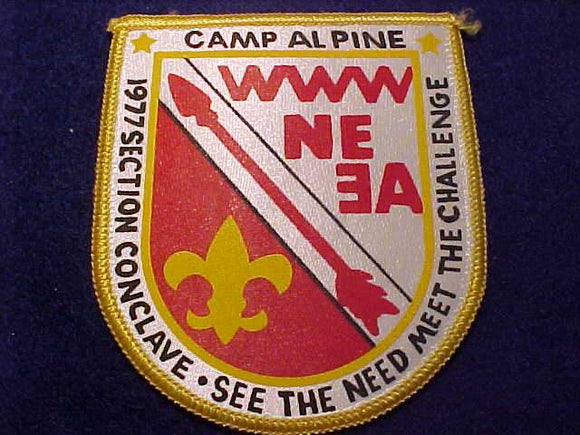 1977 NE3A SECTION CONCLAVE PATCH, CAMP ALPINE