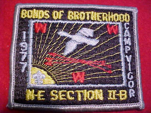 1977 NE2B SECTION CONCLAVE PATCH, CAMP VIGOR