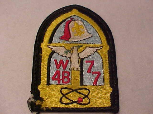 1977 W4B SECTION CONCLAVE PATCH, DAMAGED CORNER