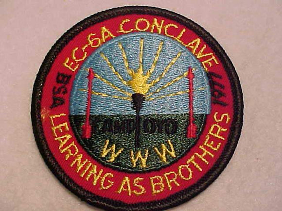 1977 EC6A SECTION CONCLAVE PATCH, CAMP OYO