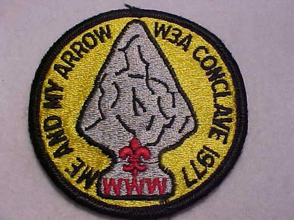 1977 W3A SECTION CONCLAVE PATCH