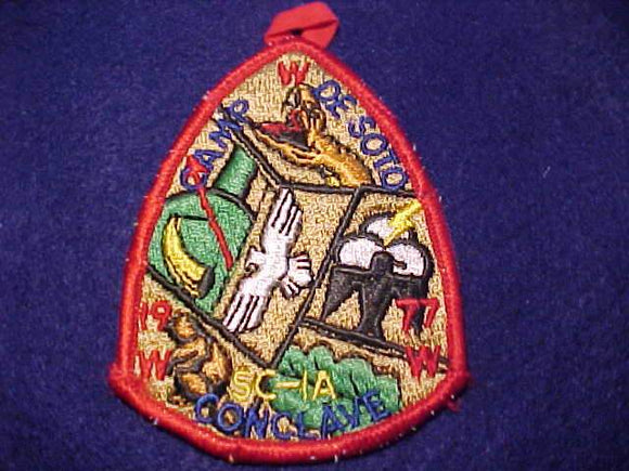 1977 SC1A SECTION CONCLAVE PATCH, CAMP DE SOTO