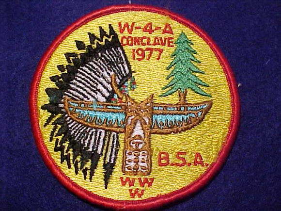 1977 W4A SECTION CONCLAVE PATCH