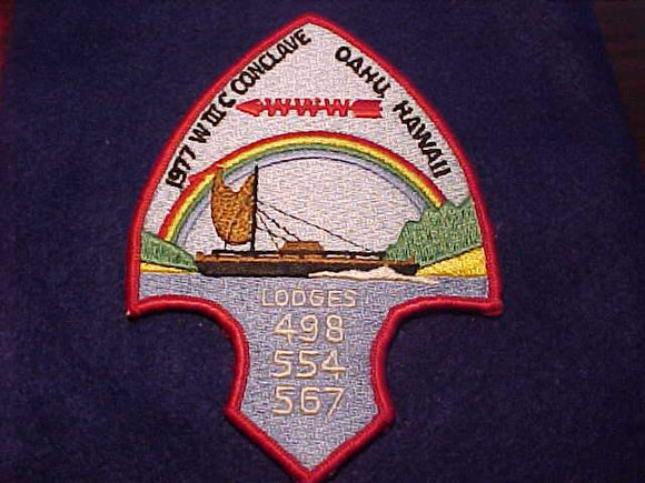 1977 WIIIC (W3C) SECTION CONCLAVE PATCH, LODGES 498, 554, 567