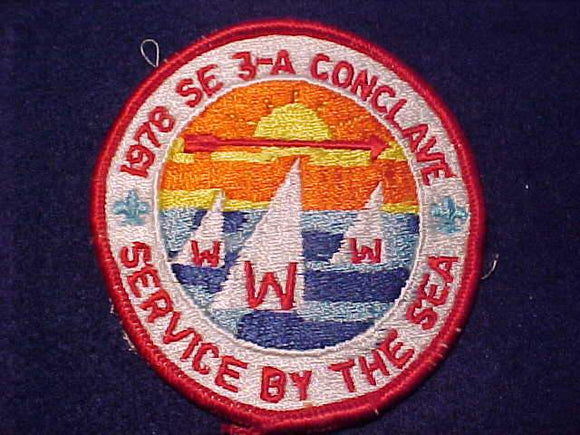 1978 SE3A SECTION CONCLAVE PATCH, SERVICE BY THE SEA