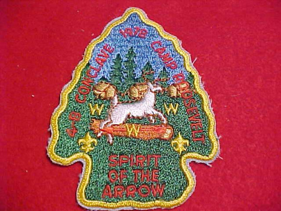 1978 NE4B SECTION CONCLAVE PATCH, CAMP ROOSEVELT