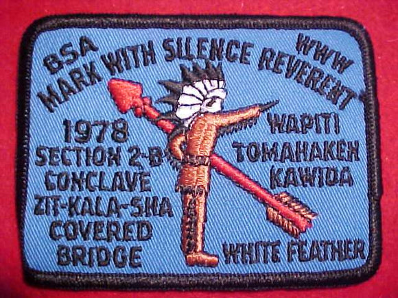 1978 SE2B SECTION CONCLAVE PATCH, CAMP COVERED BRIDGE