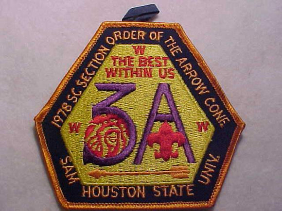 1978 SC3A SECTION CONFERENCE PATCH, SAM HOUSTON UNIV.