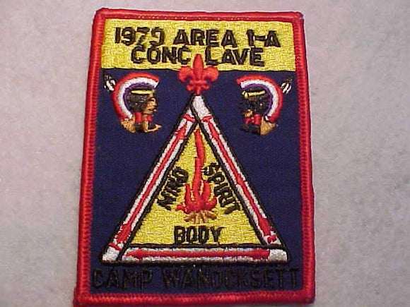 1979 NE1A SECTION CONCLAVE PATCH, CAMP WANOCKSETT