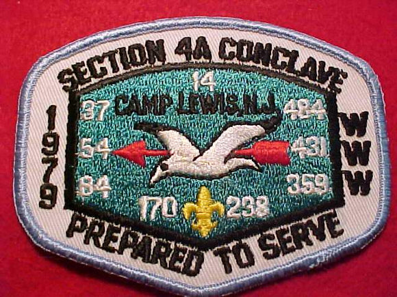 1979  NE4A SECTION CONCLAVE PATCH, CAMP LEWIS, NJ