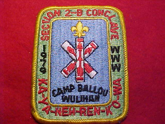 1979 NE2B SECTION CONCLAVE PATCH, CAMP BALLOU WULIHAN
