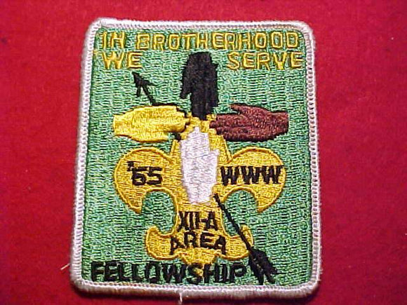 1965 PATCH, 12A AREA FELLOWSHIP