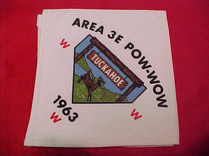 1963 3E POW-WOW NECKERCHIEF,HOST LODGE 386 TUCKAHOE