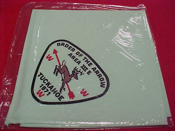 1971 AREA 3-E CONCLAVE NECKERCHIEF,HOST LODGE 386 TUCKAHOE