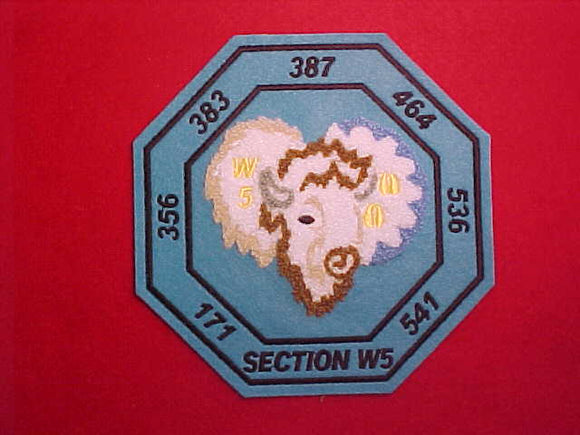 SECTION W5 CHENILLE PATCH, NO DATE