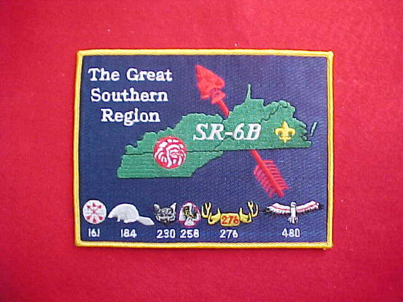 SR6B SECTION JACKET PATCH, NO DATE, YELLOW BORDER, 5X6.75