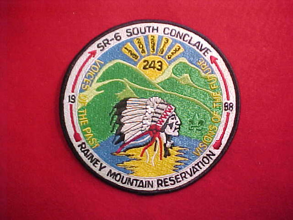 1998 SR6S CONCLAVE JACKET PATCH, RAINEY MOUNTAIN RESERVATION, 6