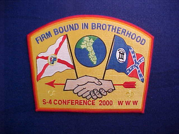 2000 S4 CONFERENCE JACKET PATCH, 6X8