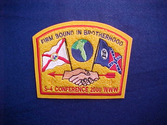 2000 S4 CONFERENCE CHENILLE PATCH, 4.5X6