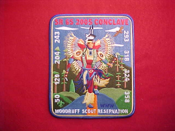 2005 SR6S CONCLAVE JACKET PATCH, WOODRUFF SCOUT RESERVATION, 5.25X6.5