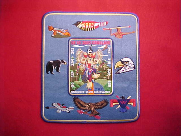 2005 SR6S CONCLAVE JACKET PATCH, WOODRUFF SCOUT RESERVATION, 7.75X8.75