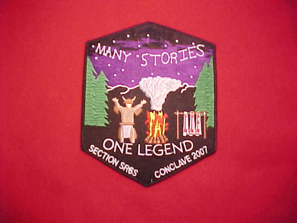 2007 SR6S CONCLAVE JACKET PATCH, 5.5X6.75