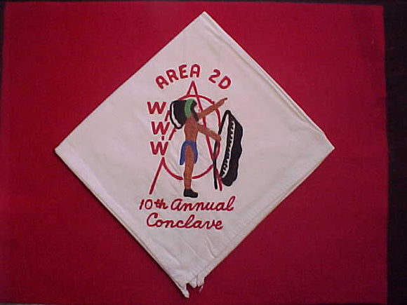 1960 AREA 2D NECKERCHIEF, 10TH ANNUAL CONCLAVE