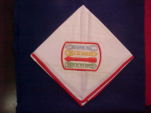 1962 AREA 2D CONCLAVE NECKERCHIEF, CAMP BOYHAVEN