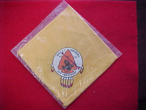 1965 AREA 6C CONFERENCE NECKERCHIEF, HOST LODGE 87 BOBWHITE, MINT IN ORIGINAL BAG