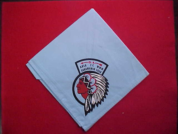 1966 AREA 2C NECKERCHIEF, LODGE HOST 287 SAKAWAWIN, MINT