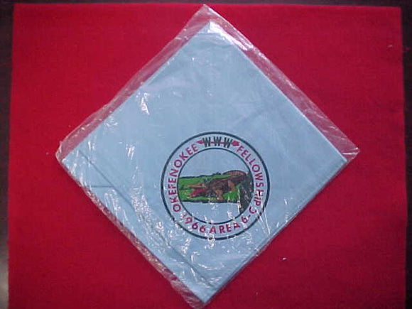 1966 AREA 6C FELLOWSHIP NECKERCHIEF, OKEFENOKEE, MINT IN ORIGINAL BAG