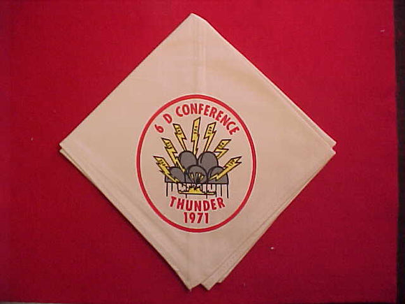 1971 AREA 6D CONFERENCE NECKERCHIEF, CAMP THUNDER