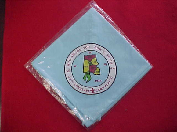 1978 SECTION SE4A CONCLAVE NECKERCHIEF, CAMP ALAFLO, MINT IN ORIGINAL BAG