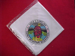 1978 SECTION SE5 NECKERCHIEF, RAINEY MOUNTAIN RESERVATION, HOST LODGE 243 MOWOGO, MINT IN ORIGINAL BAG