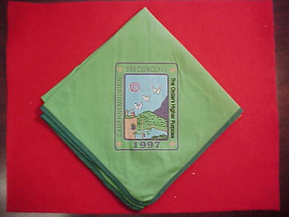 1997 SECTION SR8 CONCLAVE NECKERCHIEF, CAMP PINE MOUNTAIN