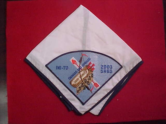 2003 SECTION SR6S CONCLAVE NECKERCHIEF, CAMP THUNDER, HOST LODGE 324 INI-TO