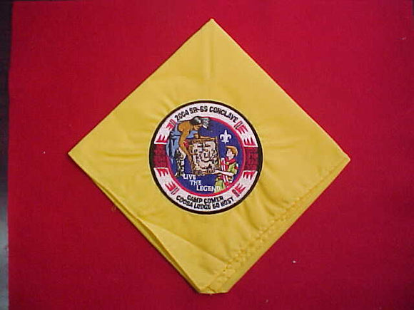 2004 SECTION SR6S CONCLAVE NECKERCHIEF, CAMP COMER, HOST LODGE 50 COOSA