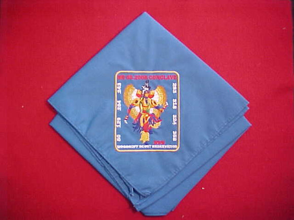 2005 SECTION SR6S CONCLAVE NECKERCHIEF, WOODRUFF SCOUT RESERVATION, HOST LODGE 129 EGWA TAWA DEE