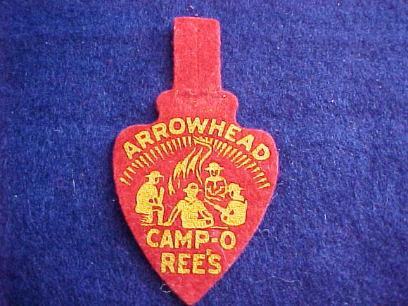 1940'S, ARROWHEAD COUNCIL CAMPOREE'S, FELT, MINT COND.