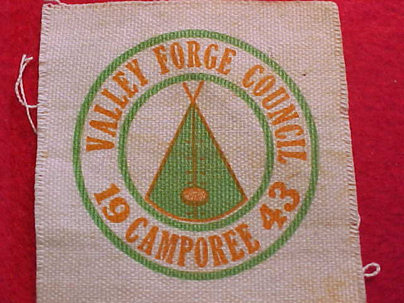 1943, VALLEY FORGE COUNCIL CAMPOREE